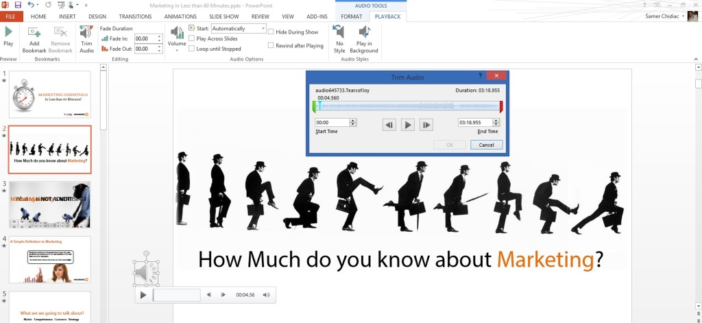 Audio in PowerPoint