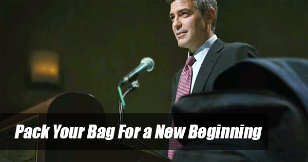 pack you bag for a new beginning