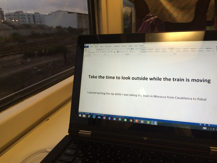 Take the time to Look outside when the train is moving